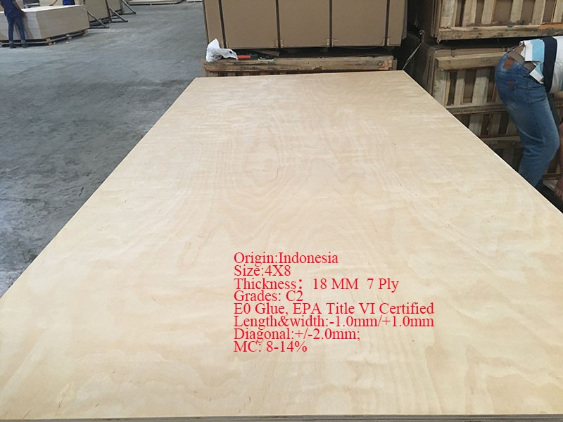 Indonesia 18MM 7 ply Plywood